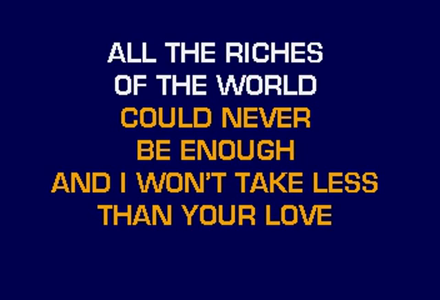 Tanya Tucker - I Wont Take Less Than Your Love